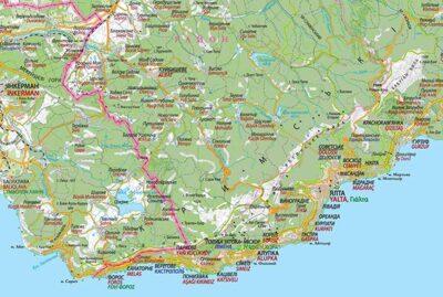 Топонімія Криму. Фрагмент настінної карти